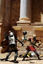 Gladiators fighting Stock Photography