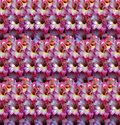 Gladiolus flower pattern of pink and white flowers ordered in rows Royalty Free Stock Image