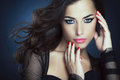 Glamorous beauty portrait of a beautiful women posing Royalty Free Stock Photography