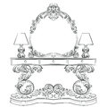 Glamorous Fabulous Baroque Rococo Console Table
