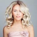 Glamorous Fashion Model. Blonde Woman Royalty Free Stock Photo