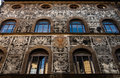 Glamorous florence palace bianca capello s facade in italy finely decorated in serigraphy Stock Photography