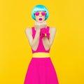Glamorous lady bright style Royalty Free Stock Photo