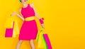 Glamorous lady shopping. Royalty Free Stock Photo