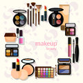 Glamorous make-up mascara fashion makeup
