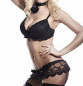 Glamour body in black lingerie Royalty Free Stock Photos