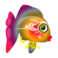 Glamour color fish Royalty Free Stock Image