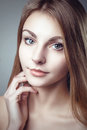 Glamour fashion clean skin portrait of beautiful young woman photo Stock Images