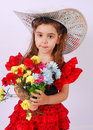 Glamour Girl With Flowers