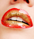 Glamour lips Royalty Free Stock Images