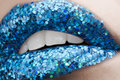 Glamour macro lips Stock Photography