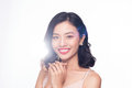 Glamour portrait of beautiful ASIAN woman model with nice makeup