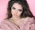Glamour portrait of beautiful woman model Stock Image