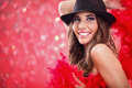 Glamour showgirl Royalty Free Stock Photo