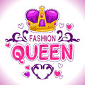 Glamour vector girlish print Royalty Free Stock Photo