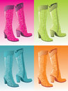 Glamour woman boots Royalty Free Stock Photo