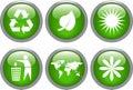 Glansig symbolsset för ekologi Arkivbild