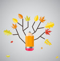Glanzend autumn natural tree background vector Stock Afbeeldingen