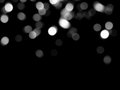 Glare on a black background