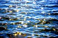 Glare on the water Royalty Free Stock Photo