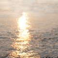 Glare on the water vintage background Royalty Free Stock Photo