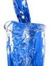 A glas of blue water Royalty Free Stock Photo