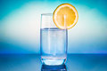 Glas of water with lemon Royalty Free Stock Photo