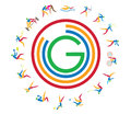 Glasgow commonwealth icons all type of games in Royalty Free Stock Image