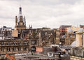 Glasgow rooftops view of upper stories and of older section of scotland Stock Photo