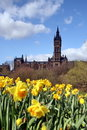 Glasgow, The University in Spring Royalty Free Stock Photo