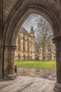 Glasgow University ThroughThe Archway Royalty Free Stock Photo