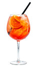 Glass of aperol spritz cocktail Royalty Free Stock Photo