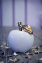Glass Apple Decor Object