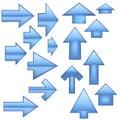 Glass Arrows - Blue Stock Photos