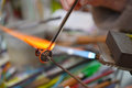 Glass Artist in her workshop Royalty Free Stock Photos