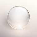 Glass ball background empty on light vector Stock Photography