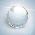 Glass ball background shiny vector Royalty Free Stock Photo