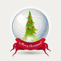 Glass ball with Christmas tree Stock Photography