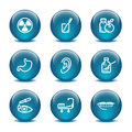 Glass ball web icons, set 15 Stock Images