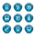 Glass ball web icons, set 16 Royalty Free Stock Images