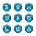 Glass ball web icons, set 2 Stock Image