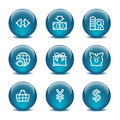 Glass ball web icons, set 24 Royalty Free Stock Photography