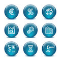 Glass ball web icons, set 25 Stock Photo