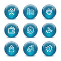 Glass ball web icons, set 26 Stock Images