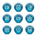 Glass ball web icons, set 27 Stock Photo