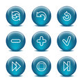 Glass ball web icons, set 29 Royalty Free Stock Images