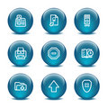 Glass ball web icons, set 4 Royalty Free Stock Image