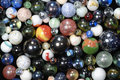 Glass-balls background in all dimensions Royalty Free Stock Photos