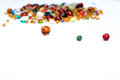 Glass balls and colorful beads Stock Photos