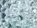 Glass balls of ice water Royalty Free Stock Photo